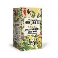 Био детоксикиращ чай с глухарче, репей и глог 20 филтъра - Heath & Heather