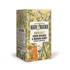 Био зелен чай ройбос с мед от манука 20 филтъра - Heath & Heather