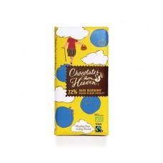 Био черен шоколад с боровинки 100 гр - Chocolates from heaven