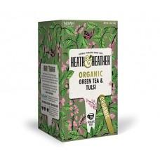 Био зелен чай и тулси 20 пак - Heath & Heather