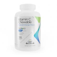 VITAMIN C 500mg (оранжев) 100 вегетариански таблетки за дъвчене за имунна система