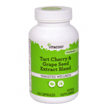 Tart Cherry & Grape seed extract blend - Standardized 120 caps - Vitacost