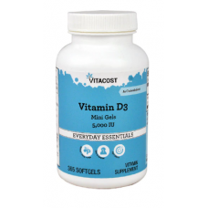 Vitamin D3 5000 IU 365 Softgels - Vitacost