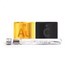 Антибактериална четка за зъби със Златни частици и въглен - Nano-b