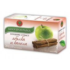 Чай Ябълка и Канела 20 филтъра - Биопрограма