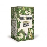 Био зелен чай с лимонена трева 20 филтъра - Heth & Heather
