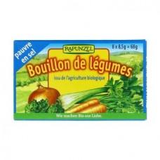 Био зеленчуков бульон с ниско съдържание на сол 8х8,5 гр - Rapunzel