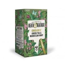 Био зелен чай с мароканска мента 20 филтъра - Heath & Heather