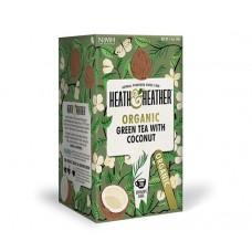 Био зелен чай с кокос 20 филтъра - Heath & Heather