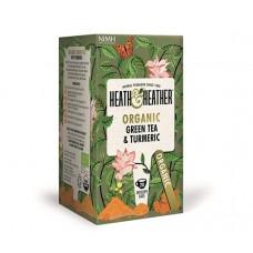 Био зелен чай с куркума 20 филтъра - Heath & Heather