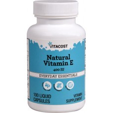 Natural Vitamin E 400iu 100 liquid caps - Vitacost