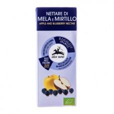 Био нектар от ябълки и сини боровинки 200 мл - Alce Nero