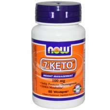 Now 7-KETO 100 мг - 60 капсули /DHEA Acetate-7-one/