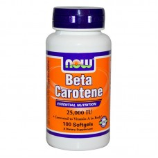 Now Beta Carotene Natural 25000 IU - 100 дражета