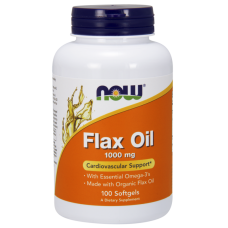 NOW - Flax Oil (High Lignan) 1000 МГ - 120 Дражета