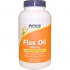 Now Flax Seed Oil Organic (Ленено масло) 1000 мг - 250 дражета