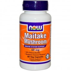 NOW - Maitake Mushrooms 60 МГ - 60 Капсули