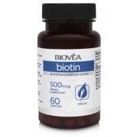 BIOTIN (Vitamin B7) 500mcg 60 Capsules - за коса, кожа и нокти