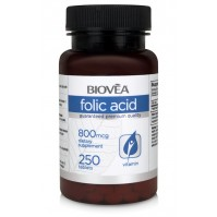 FOLIC ACID (Vitamin B9)800mcg 250 Tablets - грижа за бременните