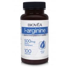 L-ARGININE 500mg 100 Capsules - ограничава мазнините в организма