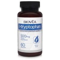 L-TRYPTOPHAN 500mg 60 капсули - облекчава стреса, конторлира теглото и апетита