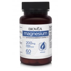 MAGNESIUM 200mg 60 Tablets - стимулира нервните импулси