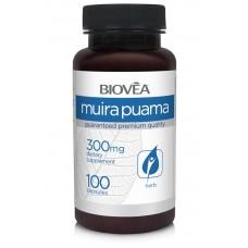 MUIRA PUAMA 300mg 100 капсули - намалява стреса, тонизира организма, повишава либидото