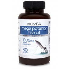 MEGA POTENCY FISH OIL 1000mg - понижава холестерола, подпомага функциите на сърцето