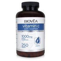 VITAMIN C with ROSE HIPS 1000mg 250 Tablets - мощен антиоксидант и имуностимулатор