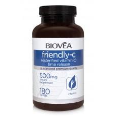 FRIENDLY-C (Esterfied Vitamin C Time Release) 500mg 180 таблетки  - мощен антиоксидант, имуностимулатор
