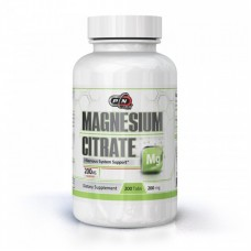Magnesium Citrate 200 мг 200 табл PURE Nutrition